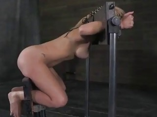 Restrained sub slut Cherie Deville likes it extra rough BDSM