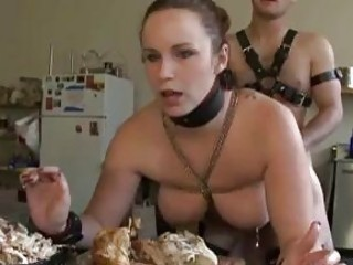 Two submissive slaves fuck hard for the master BDSM porn