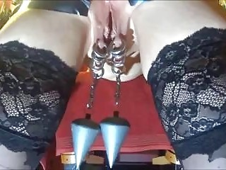 Poor gal receives extreme anal and pussy torture BDSM porn