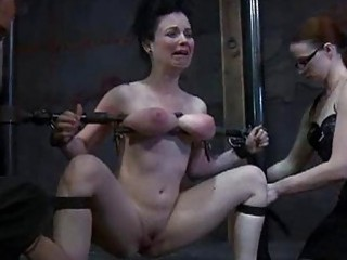 Lesbian mistress has her way with bound slave BDSM porn