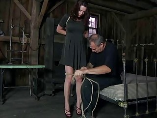 Hot babe follows the orders of her perverted master BDSM