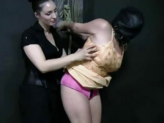 Hooded slave girl is ready for extreme punishment BDSM movie