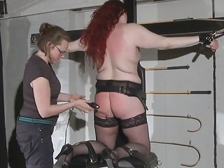 Wicked babe can take a lot of pain in BDSM lesbian bondage