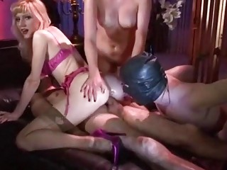 Girls ride a dudes cock and make a dude watch