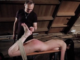 Skinny girl is tickled and then gets her clit teased