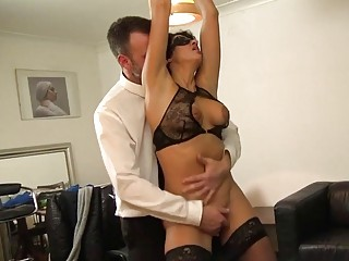 Wife is tied up and fucked hard by a sadist