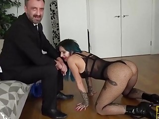 Big booty babe rides on her masters big fat dick