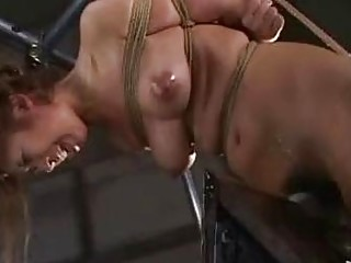 Submissive naked Asian obeys BDSM and being abused and humiliated