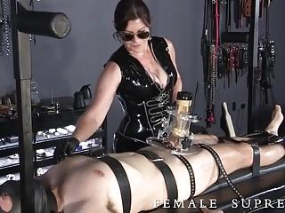 Nasty mature mistress enjoys BDSM play and bondage with men