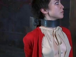 Chained young lady feels the pain from mistress BDSM movie