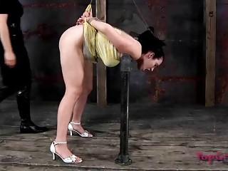 Chubby bondage slave wants to be punished by mistress BDSM