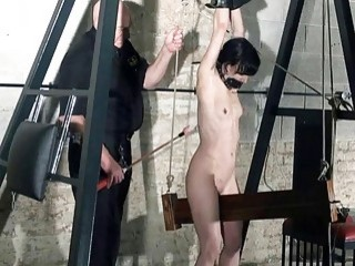 Impeccable young babe squeezed and then pounded hard afterwards