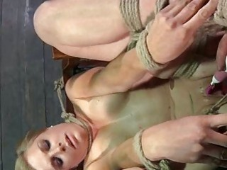 Tied up sexy slut loves it hard and rough BDSM