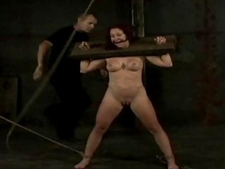 Roped and humiliated bimbo gets destroyed by master BDSM porn