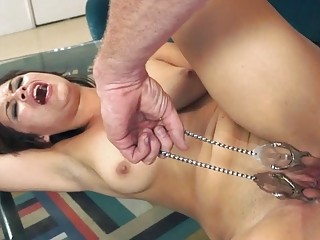 Raunchy mature chick seductively fucks a dominant slave-owner cruel man