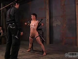 Bondage slave babe is ready to taste hard pain BDSM