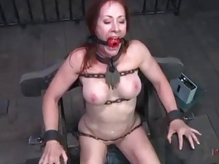 Nasty slave slut Catherine DeSade destroyed with toys BDSM porn