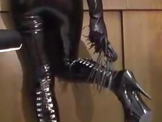 Mistress in latex invites you for some sissy BDSM training