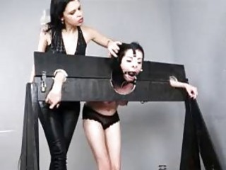 Lesbian punishment with lezdom mistress and her slave BDSM porn