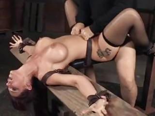 Busty sub slave services a black monster cock BDSM porn