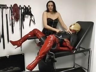 Femdom mistress tortures her slave very rough BDSM fetish porn