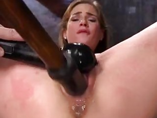 Tied up bimbo toyed and tortured by BDSM freaky master