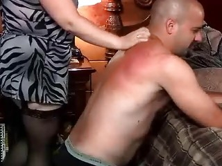 Mistress loves to whip and torture her submissive slave BDSM