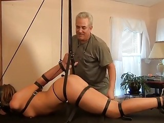 Bitch in high heels gets her ass spanked super hard