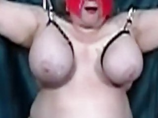 Horny chick with massive titties gets exposed on live camera