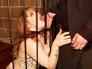 Skinny submissive girl shows off loyalty to her hot lover