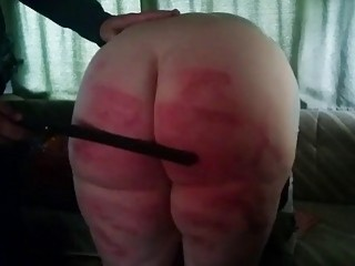 Babe with a fat ass get spanked hard by master