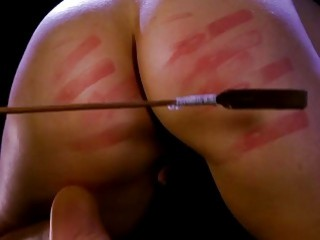 Her big booty gets spanked by her unforgiving sadistic master