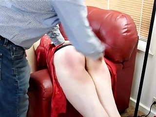 Chick with a fat ass in a dress gets spanked
