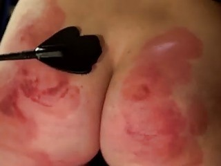 Blondie gets her cheeks and her face slapped very hard