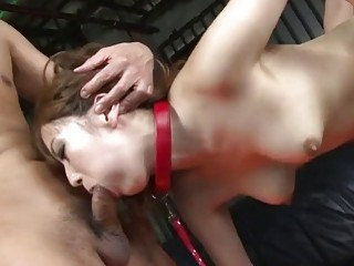 Captive Asian girl is tag-teamed by two horny Japanese studs