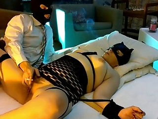 BDSM session for BBW babe with a face sitting kink