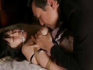 Japanese BDSM time with a cute chick who loves it