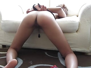 Tied naked amateur loves BDSM and having her ass spanked