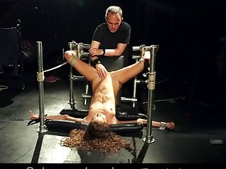 Cute girl gets naked to enjoy extreme BDSM and bondage