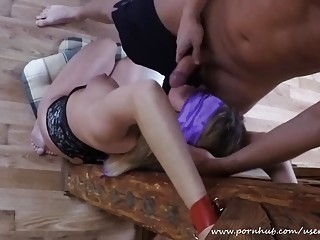 Horny amateur adores BDSM and having her face fucked hard