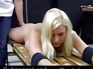 Gorgeous babe with big tits enjoys BDSM and being manhandled