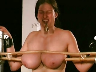 Tormented girl gets her big tits tortured hard BDSM movie