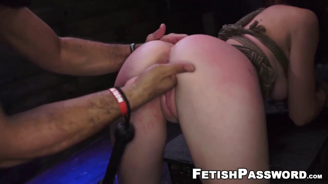 Teen pussy spanked and fingered